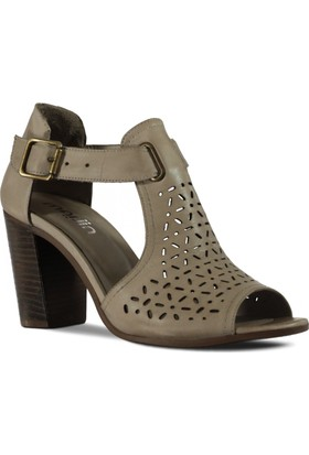 Marjin Kadın Nari Topuklu Deri Ayakkabı Gri