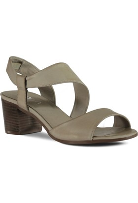 Marjin Kadın Pure Topuklu Deri Ayakkabı Gri