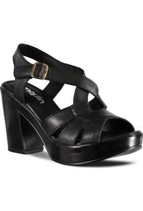Marjin Kadın Topuklu Ayakkabı Siyah