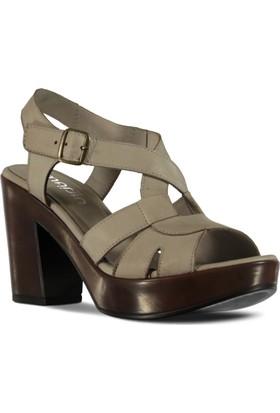 Marjin Kadın Topuklu Ayakkabı Gri