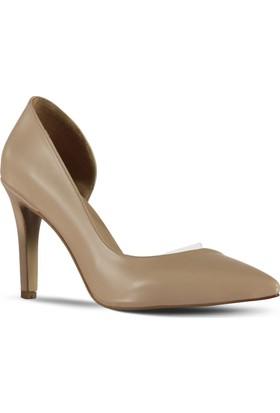 Marjin Kadın Batira Topuklu Ayakkabı Bej
