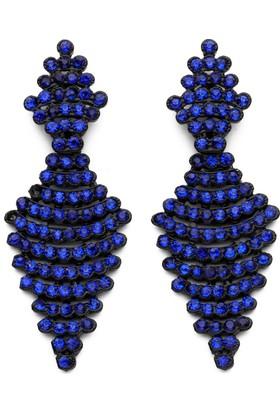 Modex Mavi Taşlı Şık Küpe Ukp9626