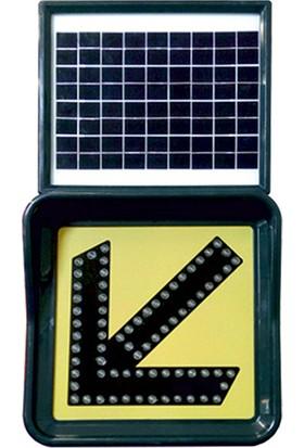 Evelux Tech Solar Ledli Trafik Lambası Soldan Gidiniz