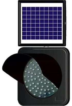 Evelux Tech 11851 Fl S Solar Ledli Siperlikli Trafik Lambası (Sarı)