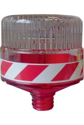 Evelux 11817 Fl K Solar Led'Li Flaşör Lamba(Kırmızı)