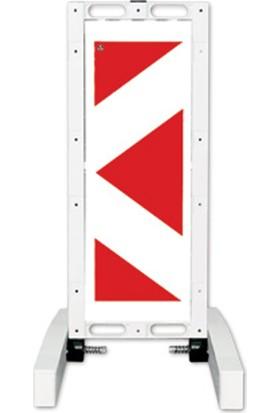 Evelux 12503 Fbr Katlanır Uyarı Levhalı Bariyer 420X1100Mm