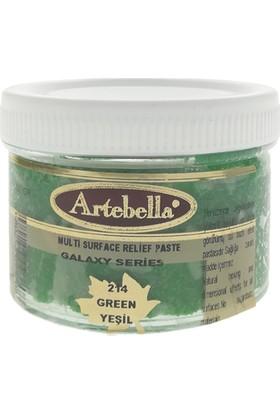 Artebella Multi Surface Rölyef Pastası 250 gr Galaxy 214 Yeşil