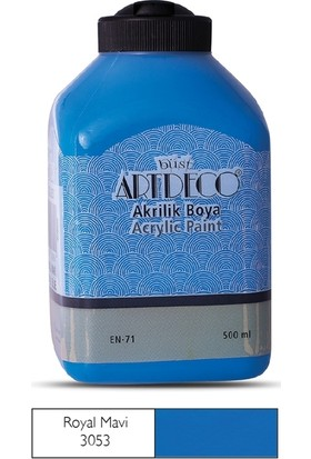 Artdeco Akrilik Ahşap Boyası 500 ml 3053 Royal Mavi