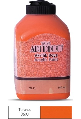Artdeco Akrilik Ahşap Boyası 500 ml 3603 Turuncu