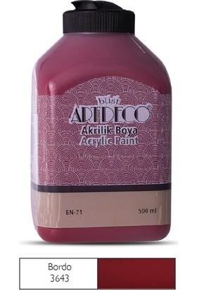 Artdeco Akrilik Ahşap Boyası 500 ml 3643 Bordo