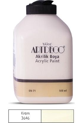 Artdeco Akrilik Ahşap Boyası 500 ml 3646 Krem