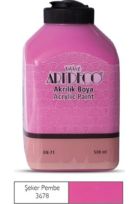 Artdeco Akrilik Ahşap Boyası 500 ml 3678 Şeker Pembe