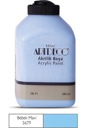 Artdeco Akrilik Ahşap Boyası 500 ml 3679 Bebek Mavi