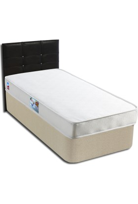 Derman Yatak Tek kişilik Ekonomik Kumaş Baza Başlık Yatak Seti 90x190 cm Venge