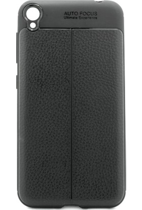 Microcase Asus Zenfone 4 Live ZB553KL Leather Effect Silikon Kılıf + Tempered Cam