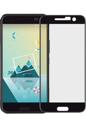 Microcase HTC M10 Tam Kaplayan Çerçeveli Tempered Cam Koruma