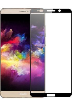 Microcase Huawei Mate 10 Pro Tam Kaplayan Çerçeveli Tempered Cam Koruma