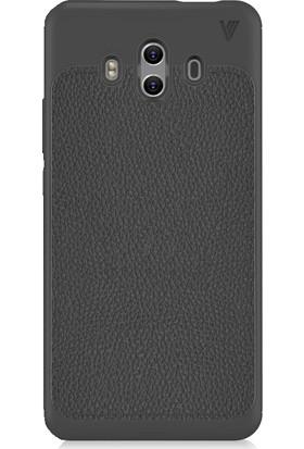 Microcase Huawei Mate 10 Venice Serisi Deri Efekt TPU Silikon Kılıf + Tempered Cam