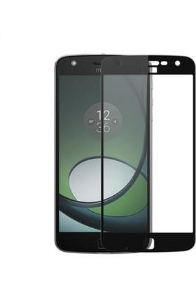 Microcase Motorola Moto Z Play Tam Kaplayan Çerçeveli Tempered Cam Koruma