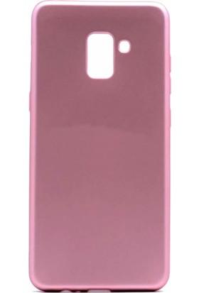 Microcase Samsung Galaxy A8 Plus 2018 Premium Silikon Kılıf + Tempered Cam