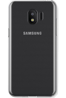 Microcase Samsung J2 Pro 2018 İnce Şeffaf Silikon Kılıf + Tempered Cam