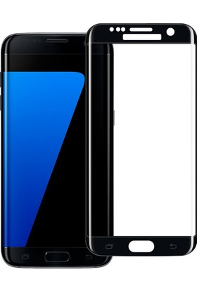 Microcase Samsung S7 Edge 3D Curved Full Ekran Tempered Glass Cam Koruma