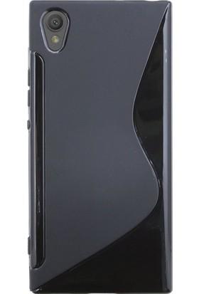 Microcase Sony Xperia L1 Line Silikon Kılıf + Tempered Cam Koruma