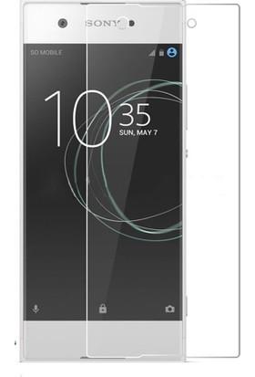 Microcase Sony Xperia XA1 Plus Tempered Glass Cam Ekran Koruma