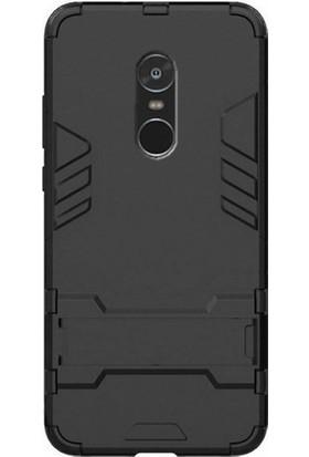Microcase Xiaomi Redmi Note 4 Alfa Serisi Armor Standlı Perfect Kılıf + Tempered Cam