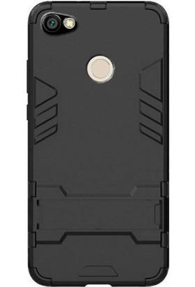Microcase Xiaomi Redmi Note 5A Prime Alfa Serisi Armor Standlı Kılıf + Tempered Cam