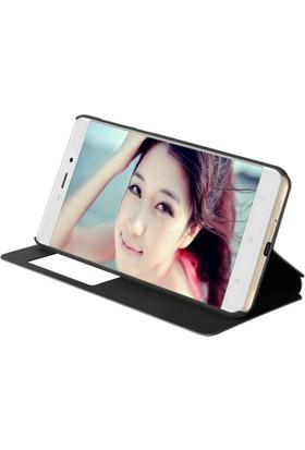 Microcase Xiaomi Redmi Note 5A Standlı Pencereli Deri Kılıf + Tempered Cam