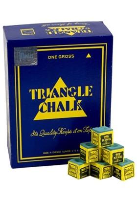 Triangle Chalk Mavi Bilardo Istaka Tebeşiri 12 Adet