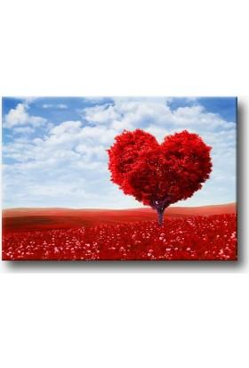 Lavi Tasarım Sevgi Ağacı Kanvas Tablo 70 x 50