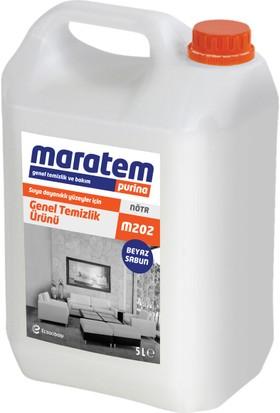Maratem Purino M202 Beyaz Sabun Kokulu Genel Temizlik Maddesi 5 Lt