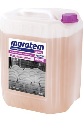 Maratem M302 Endüstriyel Bulaşık Makine İçin Bulaşık Deterjanı 20 Lt