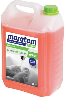 Maratem M101 Sıvı El Sabunu Berrak Somon 5 L