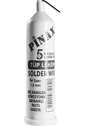 Pinax Tüp Lehim - 5 kanallı, 1,2mm