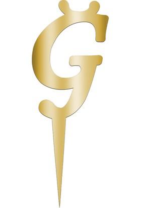 Partijet Ğ Harf Aynalı Altın Pleksi 7 cm