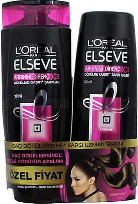 Elseve Argine Direnç 3x Dökülme Karşıtı Şampuan 550 ml+Sac Kremi 175 ml