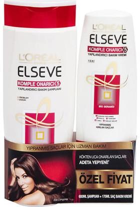 Elseve Komple Onarıcı 5in1 Yapılandırıcı Şampuan 550 ml+Sac Kremi 175 ml