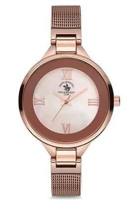 Santa Barbara Polo Club Sb.3.1141.6 Rose Gold Hasır Kordonlu Kadın Kol Saati