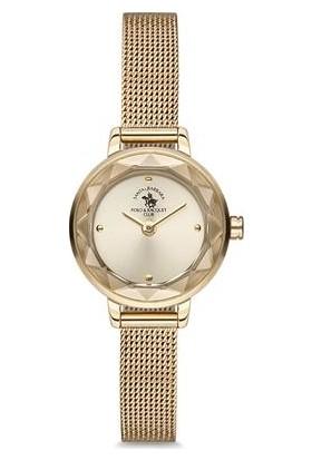 Santa Barbara Polo Club Sb.6.1121.2 Altın Kaplama Hasır Kordonlu Kadın Kol Saati