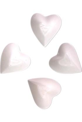 Arma House Seramik Kalp Desenli 4 Lü Servis Ve Sunum Tabağı