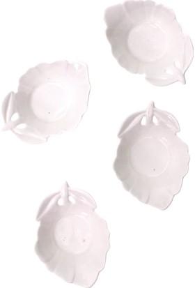 Arma House Seramik Delikli Yaprak Desenli 4 Lü Servis Ve Sunum Tabağı