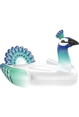 Arma House Yeşil Mavi Tavus Kuşu Şişme Deniz Yatağı