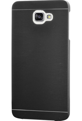 Case 4U Samsung Galaxy A7 2017 Moto Kılıf Metal Arka Kapak Siyah
