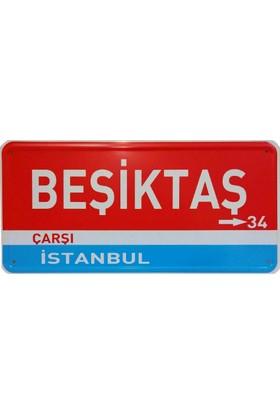 Dekoratif Plaka Beşiktaş Çarşı İstanbul