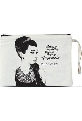 Clutch Çanta - Audrey Hepburn 1 adet