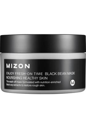 Mizon Enjoy Fresh-On Time Black Bean Mask - Siyah Fasulye Ekstreli E Vitaminli Besleyici Maske
