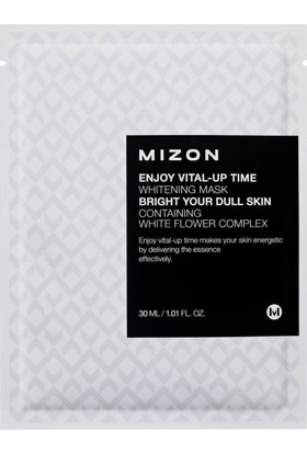 Mizon Enjoy Vital-Up Time Whitening Mask - Cilt Beyazlatıcı Beyaz Çiçek Kompleksli Maske